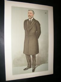 Vanity Fair Print 1904 Viscount Cobham, Railway